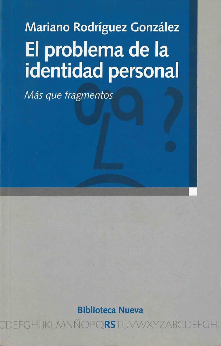 PROBLEMA DE LA IDENTIDAD PERSONAL, EL: portada