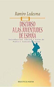 DISCURSO A LAS JUVENTUDES DE ESPAÑA: portada