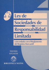 LEY DE SOCIEDADES DE RESPONSABILIDAD LIMITADA: portada