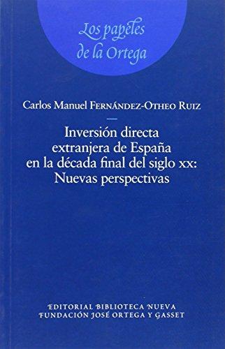 Inversión directa extranjera de España a finales del XX: portada