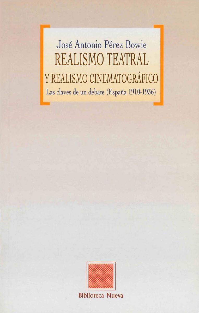 REALISMO TEATRAL Y REALISMO CINEMATOGRÁFICO: portada