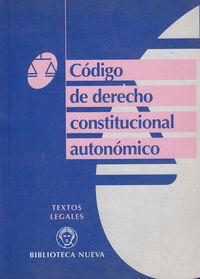 CODIGO DE DERECHO CONSTITUCIONAL AUTONOMICO: portada