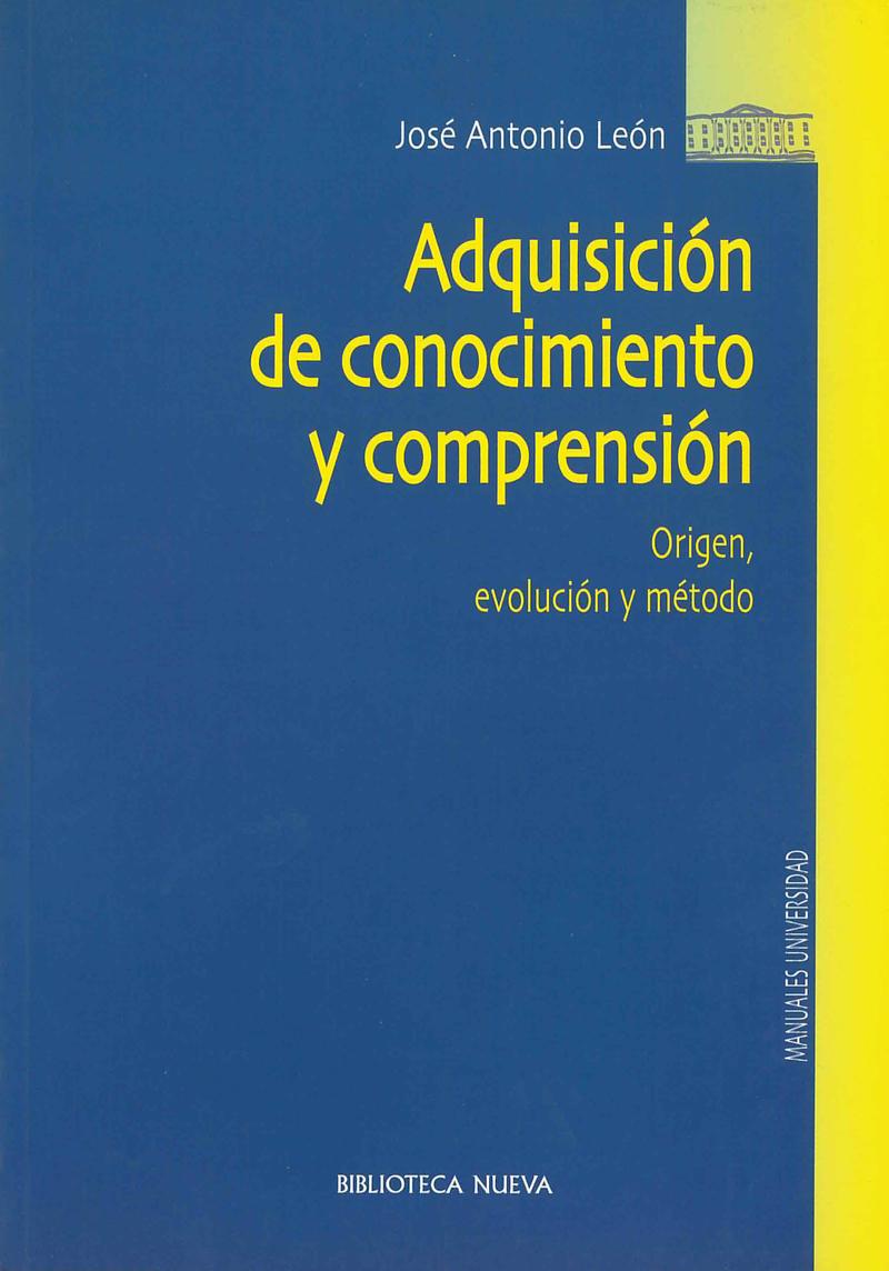 ADQUISICIÓN DE CONOCIMIENTO Y COMPRENSIÓN: portada