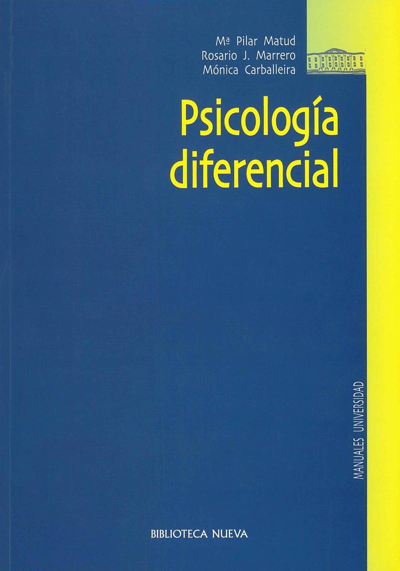 PSICOLOGÍA DIFERENCIAL: portada
