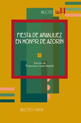 FIESTA DE ARANJUEZ EN HONOR DE AZORÍN: portada