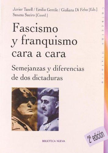 FASCISMO Y FRANQUISMO CARA A CARA: portada