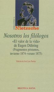NOSOTROS LOS FILÓLOGOS: portada