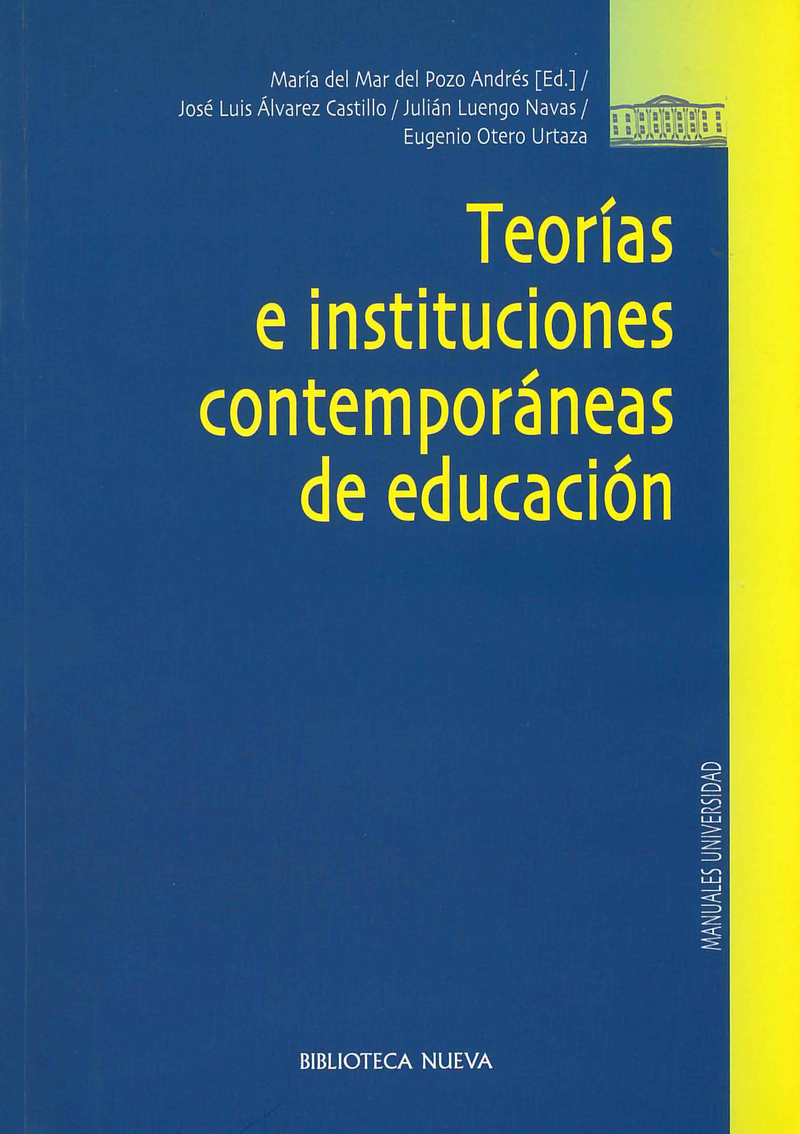 TEORÍAS E INSTITUCIONES CONTEMPORÁNEAS DE EDUCACIÓN: portada