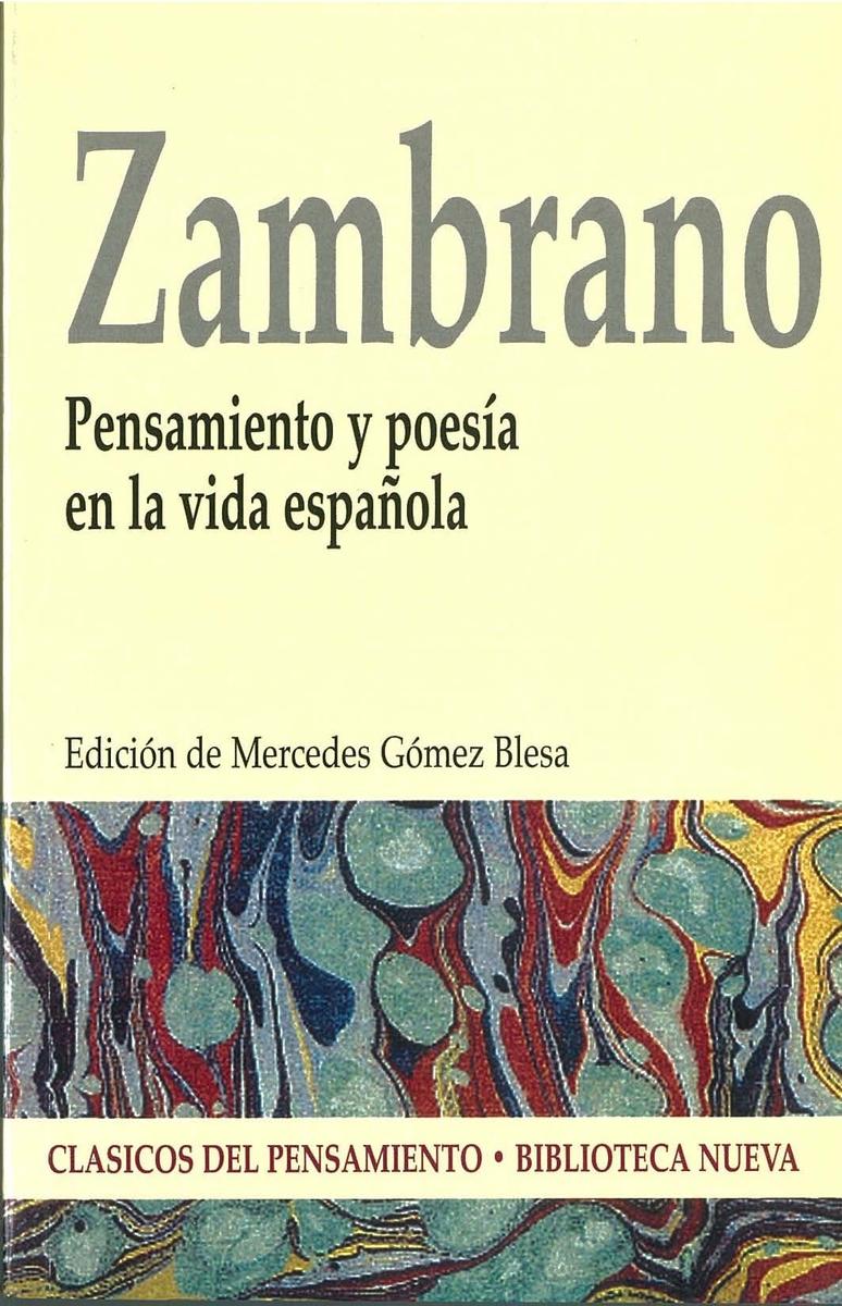 PENSAMIENTO Y POESíA EN LA VIDA ESPAñOLA: portada