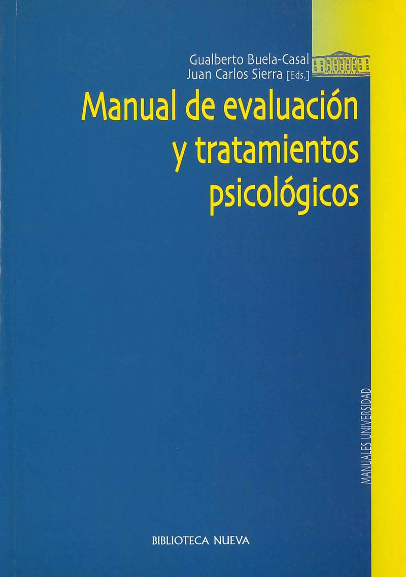 MANUAL DE EVALUACIÓN Y TRATAMIENTOS PSICOLÓGICOS: portada