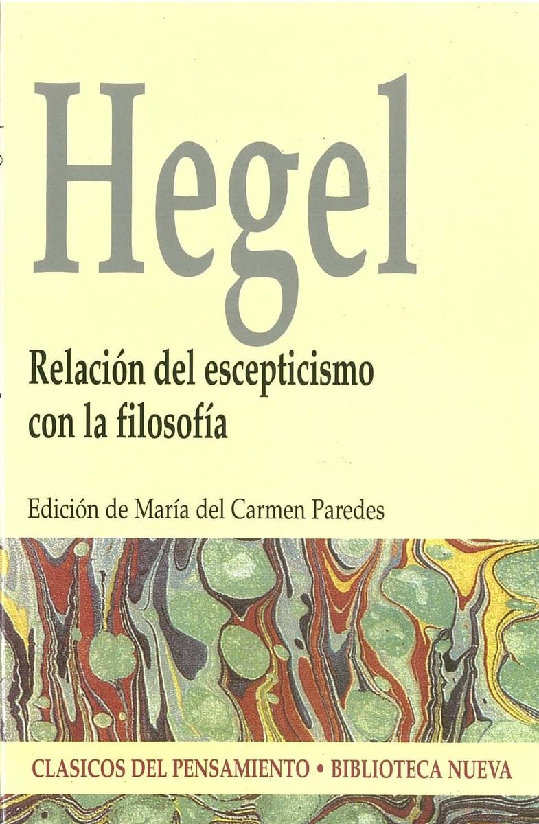 RELACIóN DEL ESCEPTICISMO CON LA FILOSOFíA: portada