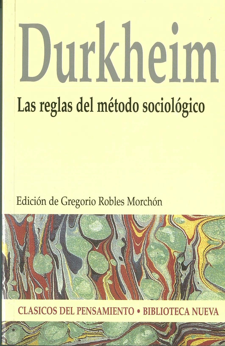 LAS REGLAS DEL MÉTODO SOCIOLóGICO: portada