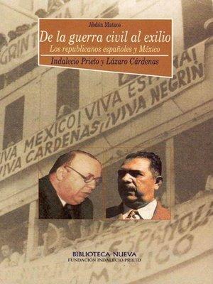 DE LA GUERRA CIVIL AL EXILIO: portada