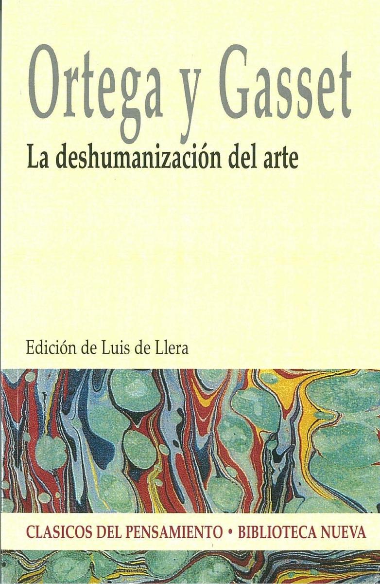 LA DESHUMANIZACIÓN DEL ARTE: portada