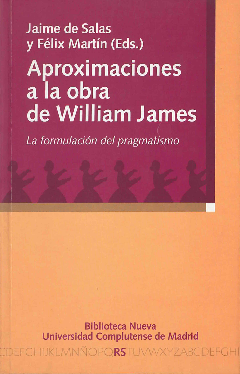 APROXIMACIONES A LA OBRA DE WILLIAM JAMES: portada