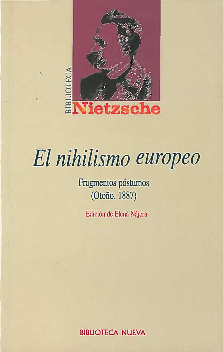 NIHILISMO EUROPEO, EL: portada