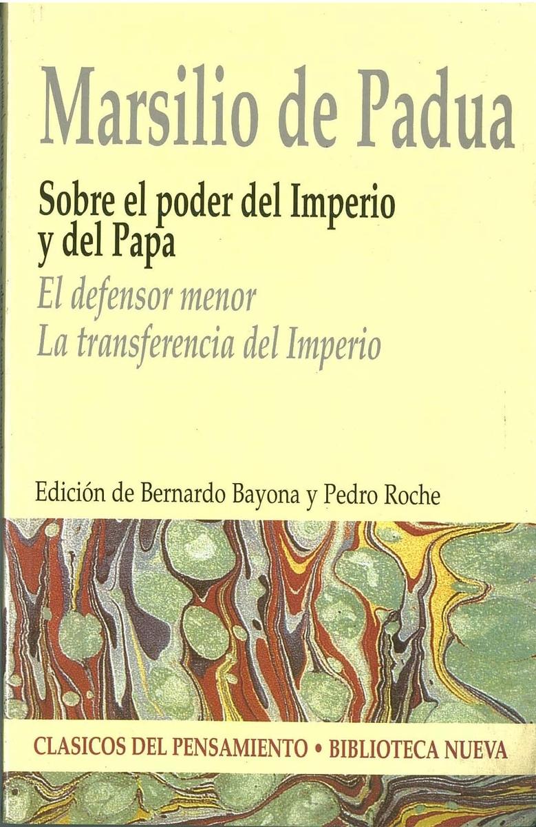 SOBRE EL PODER DEL IMPERIO Y DEL PAPA: portada