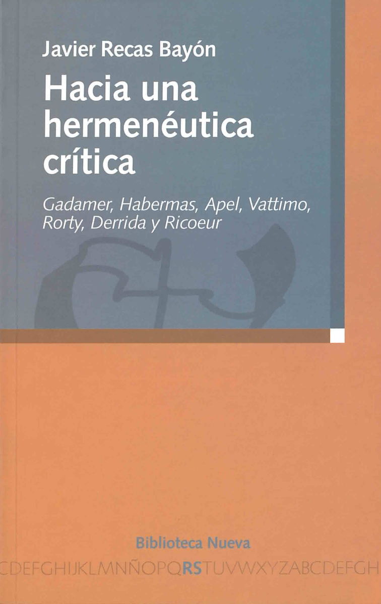 HACIA UNA HERMENÉUTICA CRÍTICA: portada