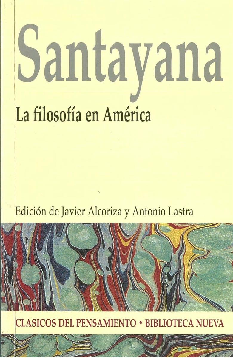 LA FILOSOF�A EN AM�RICA: portada