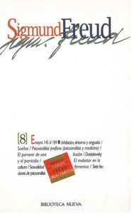 OBRAS COMPLETAS SIGMUND FREUD, TOMO VIII, ED.BOLSILLO: portada