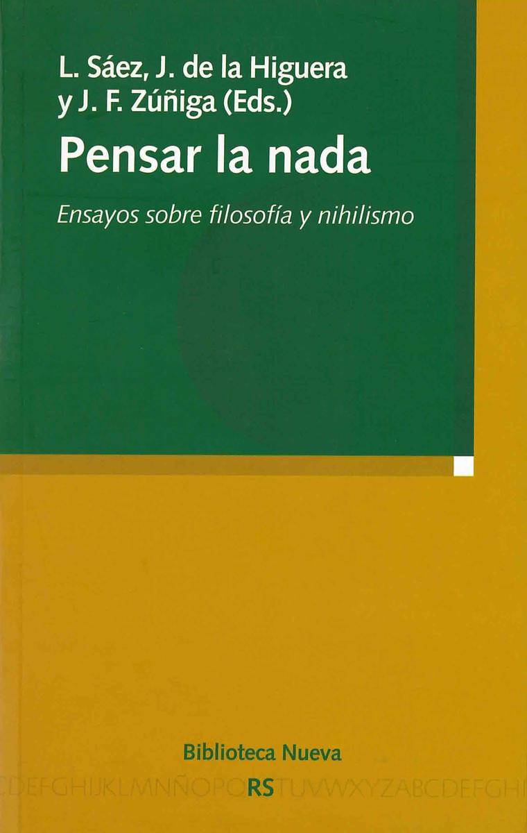PENSAR LA NADA: portada