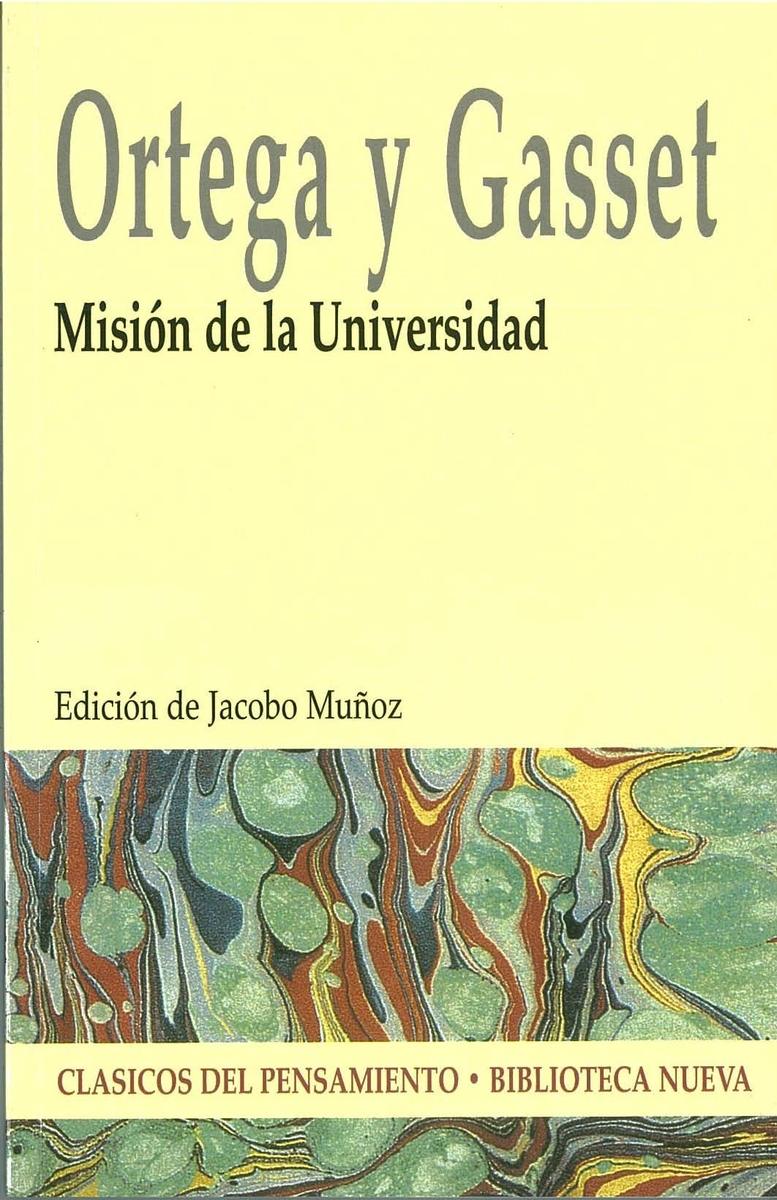 MISIÓN DE LA UNIVERSIDAD: portada