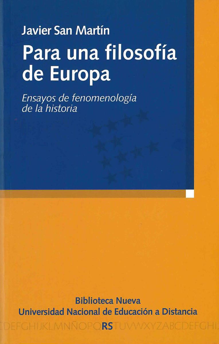 PARA UNA FILOSOFÍA DE EUROPA: portada
