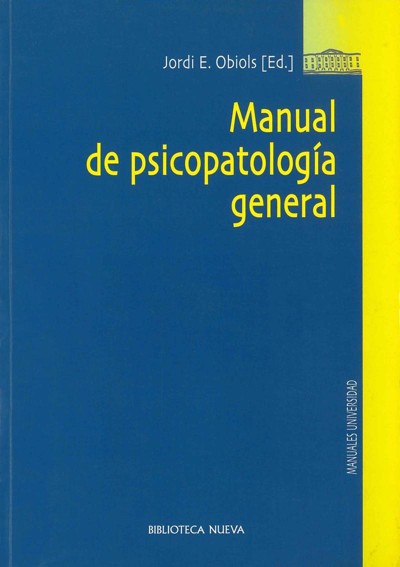 MANUAL DE PSICOPATOLOGIA GENERAL: portada