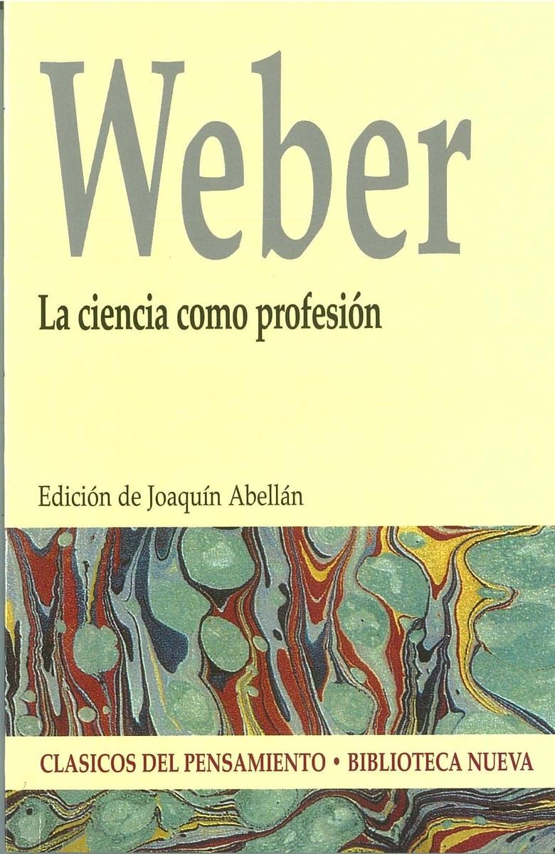 CIENCIA COMO PROFESIÓN, LA: portada