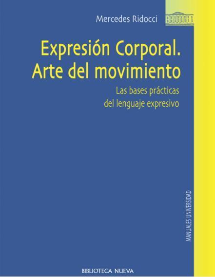 EXPRESIÓN CORPORAL. ARTE DEL MOVIMIENTO: portada