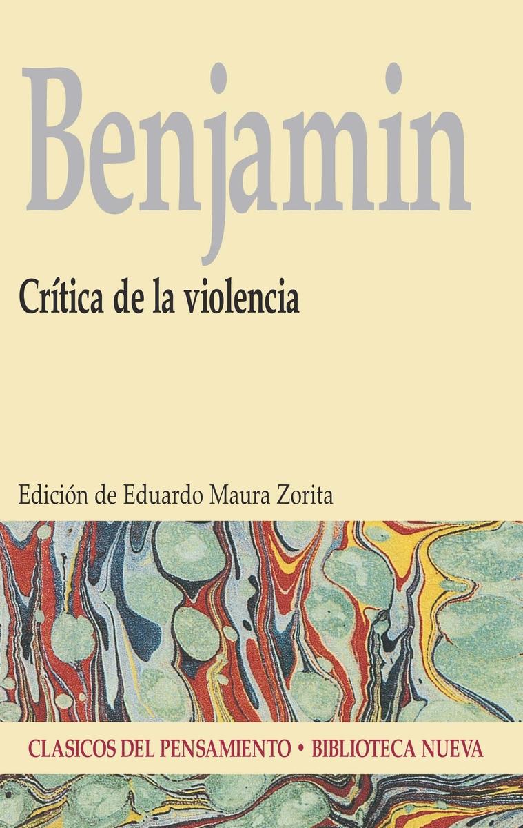 CRÍTICA DE LA VIOLENCIA: portada