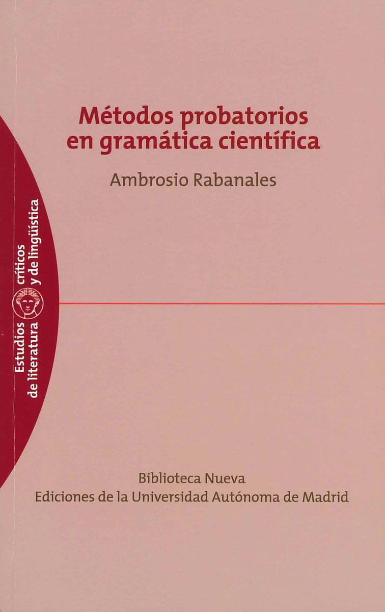 M�TODOS PROBATORIOS EN GRAM�TICA CIENT�FICA: portada