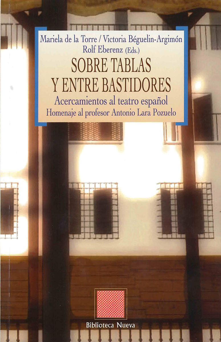 SOBRE TABLAS Y ENTRE BASTIDORES: portada