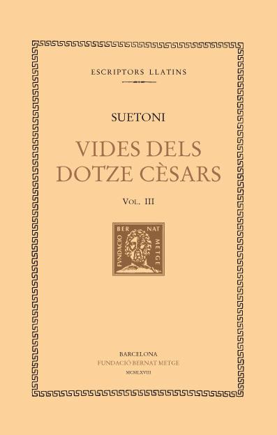 VIDA DELS DOTZE CÈSARS VOL III: portada