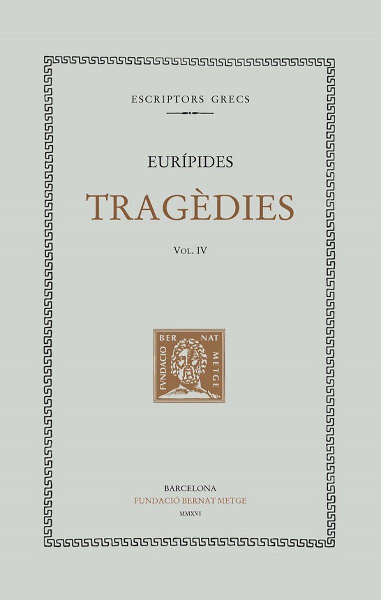 TRAGèDIES IV: HèCABE. LES SUPLICANTS: portada