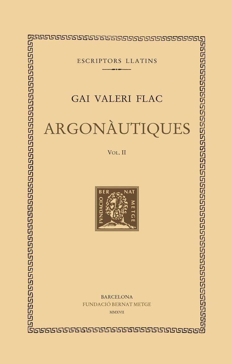 ARGONÀUTIQUES, VOL II - Rústica: portada