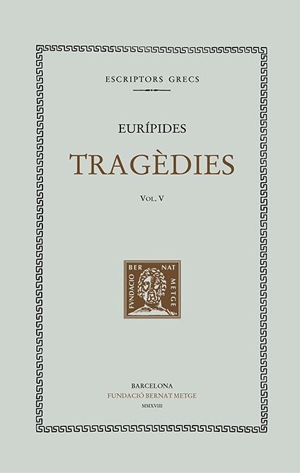 TRAGÈDIES, Vol V (Tela): portada