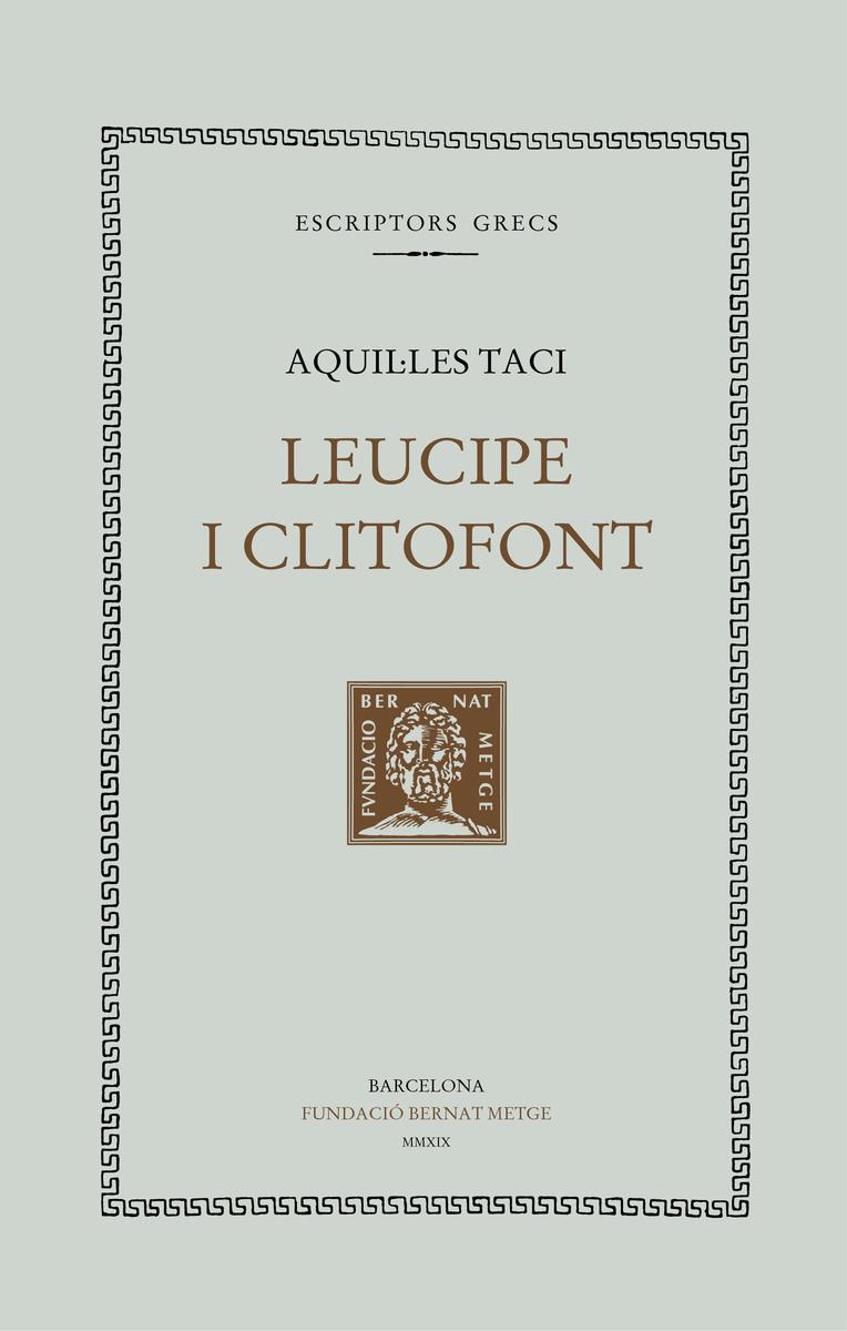Leucipe i Clitofont: portada