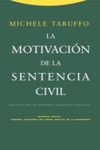 LA MOTIVACIóN DE LA SENTENCIA CIVIL: portada