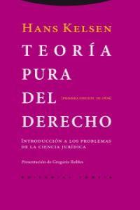 TEORíA PURA DEL DERECHO: portada