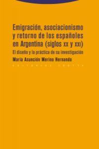 EMIGRACIÓN, ASOCIACIONISMO Y RETORNO DE LOS ESPAÑOLES EN ARG: portada