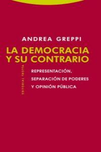 LA DEMOCRACIA Y SU CONTRARIO: portada