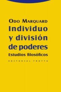 INDIVIDUO Y DIVISIÓN DE PODERES: portada