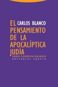EL PENSAMIENTO DE LA APOCALíPTICA JUDíA: portada