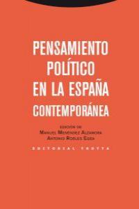 PENSAMIENTO POLíTICO EN LA ESPAñA CONTEMPORáNEA: portada
