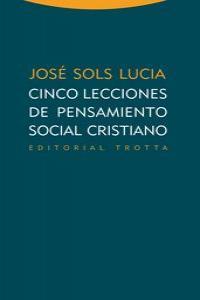 CINCO LECCIONES DE PENSAMIENTO SOCIAL CRISTIANO: portada