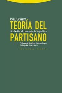 TEORíA DEL PARTISANO: portada