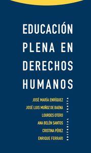 EDUCACIóN PLENA EN DERECHOS HUMANOS: portada