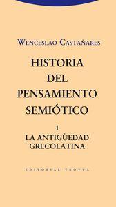 HISTORIA DEL PENSAMIENTO SEMIóTICO. 1: portada