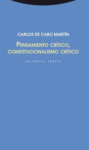 Pensamiento crítico, constitucionalismo crítico: portada
